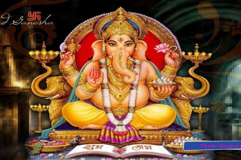 Wallpapers Backgrounds - Indian God Hindu Ganesh Shree Wallpaper 1366x768  Picture