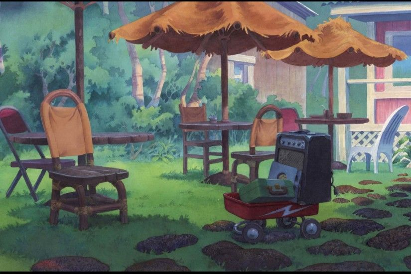 watercolor background from Lilo and Stitch (This website has tons of great  BG ref) | Animation | Pinterest | Watercolor background, Watercolor and  Animation ...