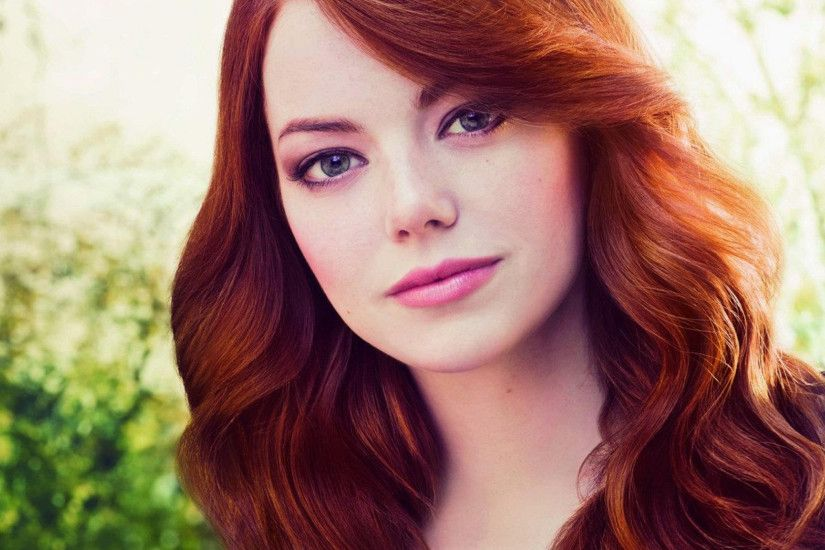 Preview wallpaper emma stone, face, red hair, person, look 2048x2048