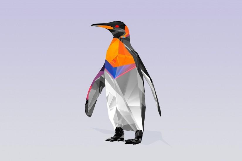 Polygon penguin wallpaper 2560x1440 jpg
