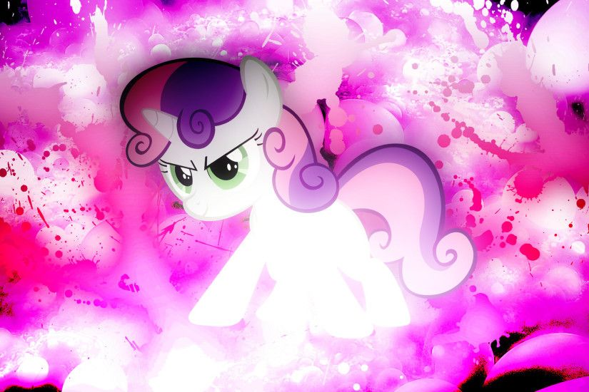 ... Sweetie Belle: New Age Splatter Wallpaper by EnemyD