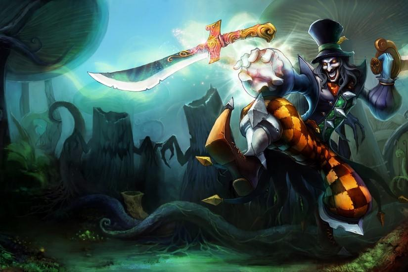 Mad Hatter Shaco Splash Art League of Legends Artwork Wallpaper lol