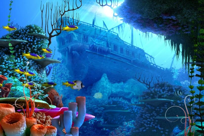 pirates pirate fantasy ship fish ocean underwater wallpaper background