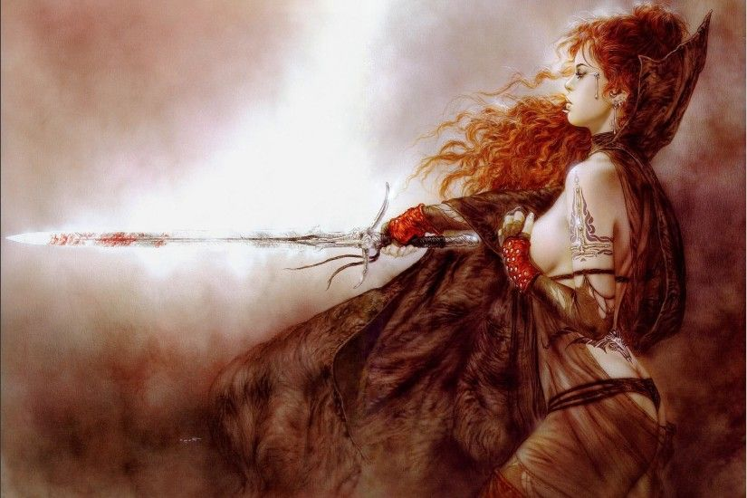 Subversive Beauty Luis Royo Book Fantasy Wallpaper