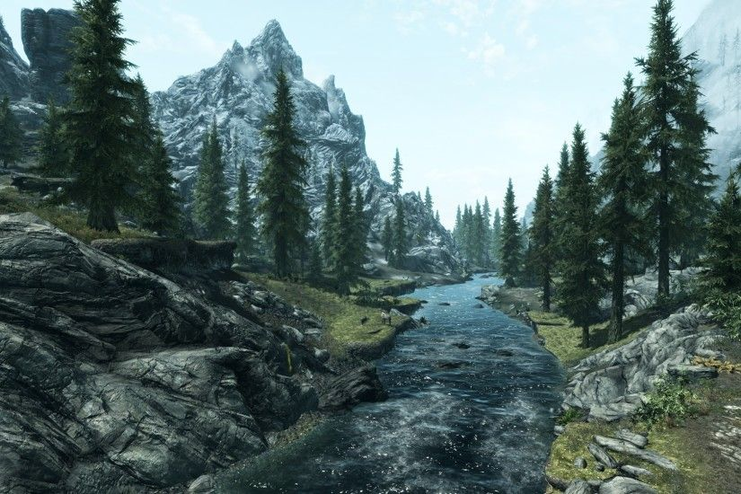 skyrim landscape HD Wallpaper