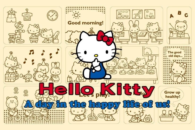 Pixels Hello Kitty Background Screensavers Brown