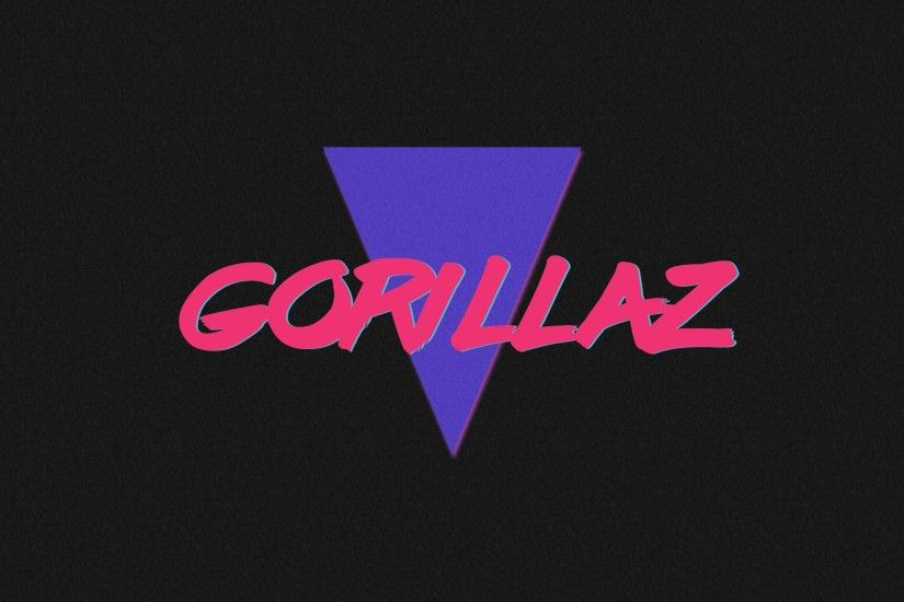 80's inspired Gorillaz wallpaper I made today.