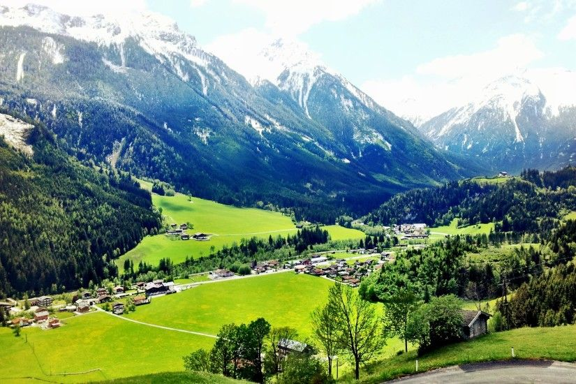 Alpine meadows in the resort of Zell am See, Austria