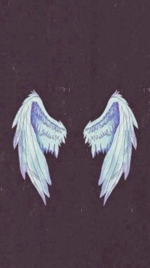 Angel Wings Illustration #iPhone #6 #wallpaper