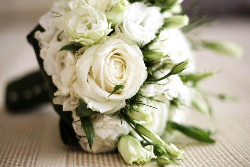 3840x2160 Wallpaper rose, white, flowers, bouquet