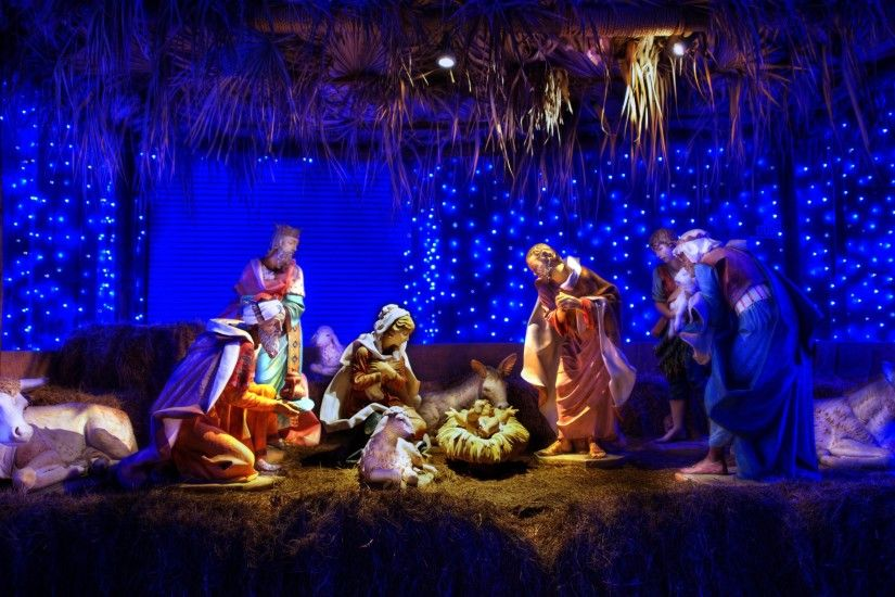 Free Christmas Nativity Scene, computer desktop wallpapers, pictures, images