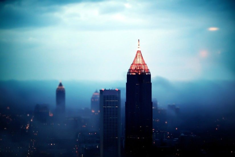 Foggy Downtown Atlanta