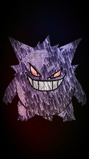 An edit of a Gengar for a phone wallpaper, requested by ReggieTheKoala.