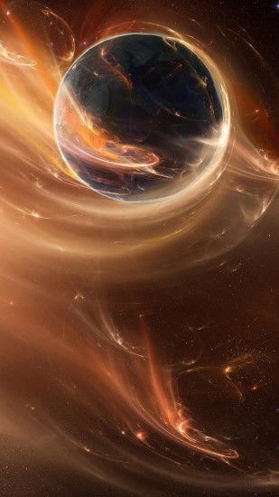 Great abstract space iPhone 6 plus wallpaper