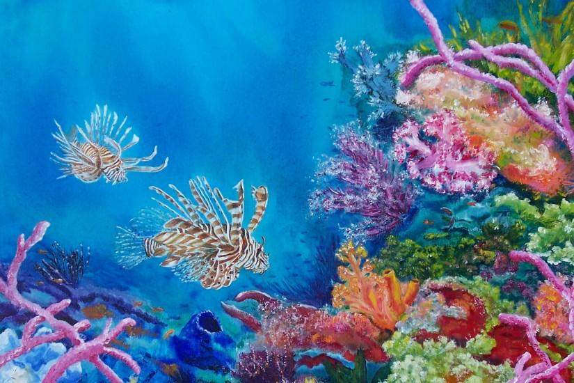 Ocean Art and Paintings-Beautiful fine art ocean paintings and ocean art by  marine life artist, Bonnielynn. Whether you are looking for ocea.
