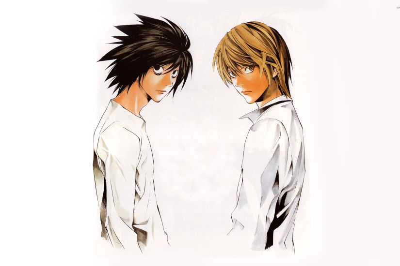 L and Light wallpaper · Anime · Death Note ...