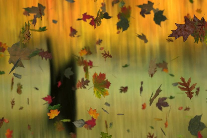 Subscription Library Animated falling leaves on autumn background with real  world textures on each leaf.