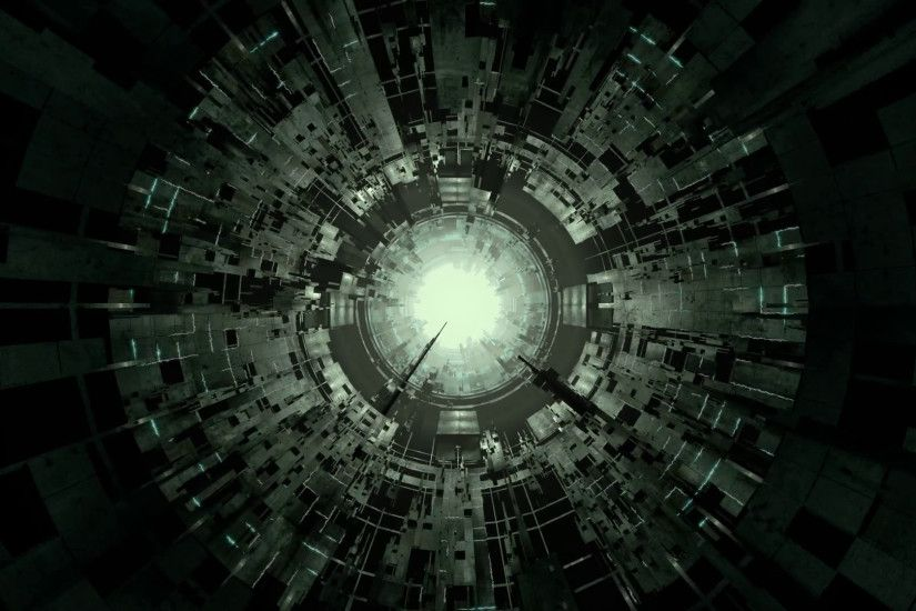 Sci-fi seamlessly looping space tunnel flight video is designed for  cyberpunk industrial graphics,