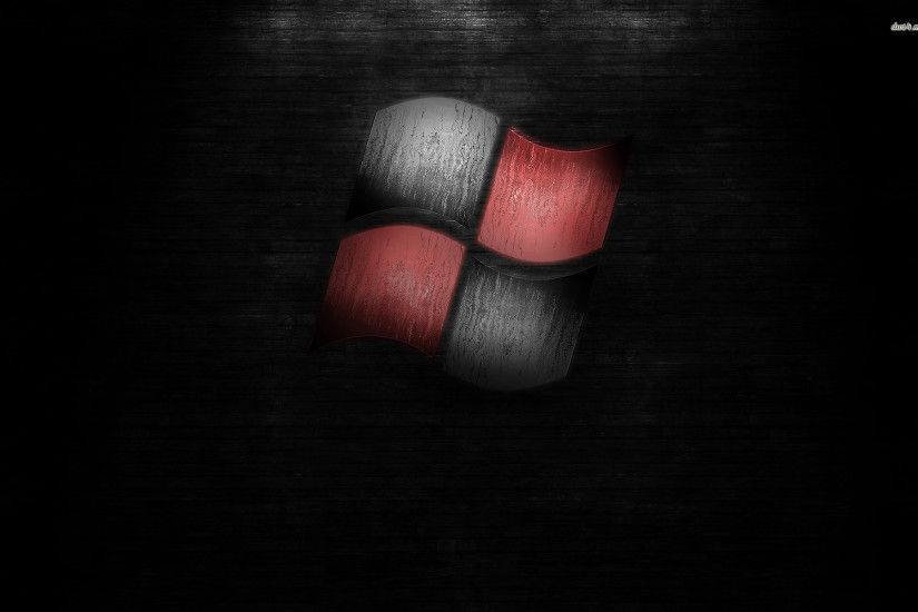 Black and red Windows logo wallpaper - Computer wallpapers - #20441