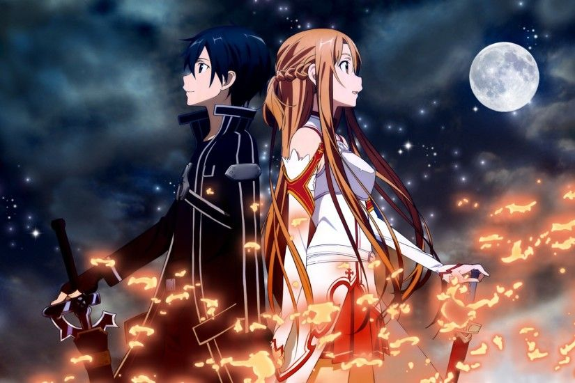 HD-Wallpaper-Kirito-Asuna- The second most romantic anime ...