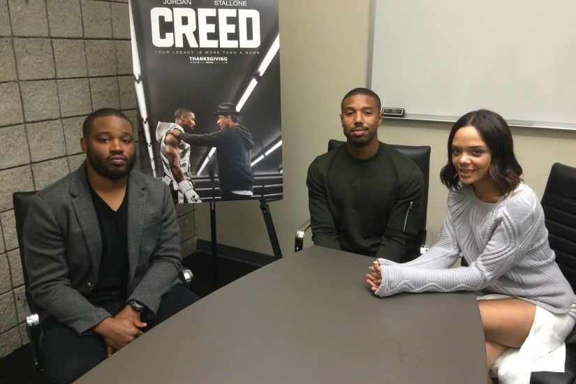 """Creed"" writer/director Ryan Coogler, from left, Michael B. Jordan. """