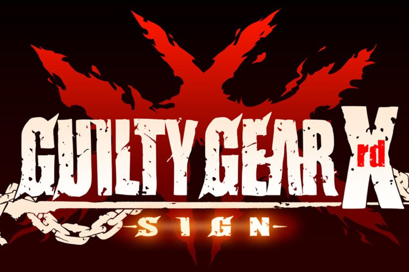 Guilty Gear Xrd -Sign- Official Logo Wallpaper Art