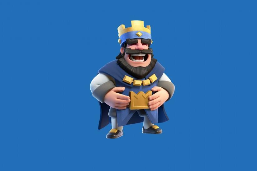 clash royale blue king HD Background