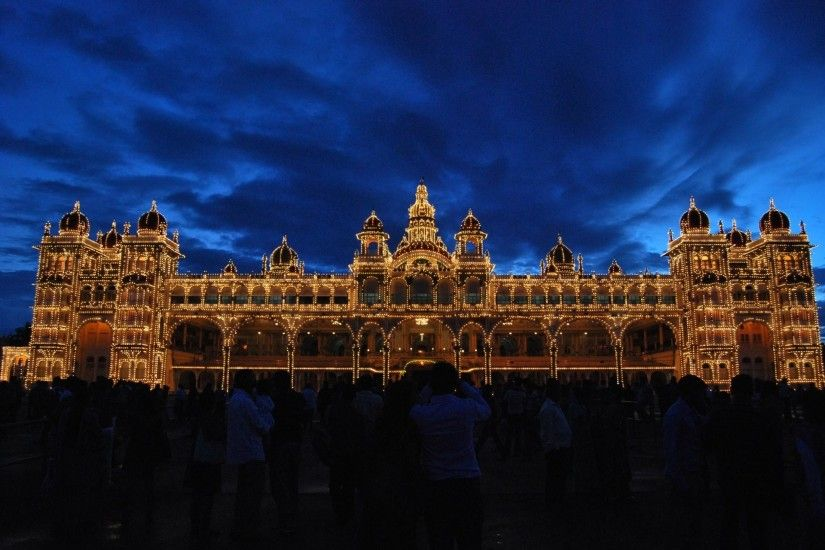 Man Made Mysore Palace India Illumination Karnataka State Karnataka  Wallpaper