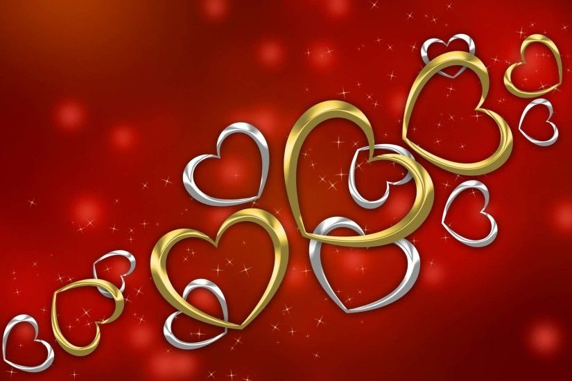 Love Gold And Silver Hearts Wallpaper 1920×1200 9176 | Cool PC .