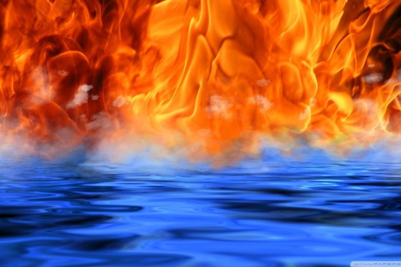 ... Fire - Water - Meet HD desktop wallpaper : Widescreen : High .