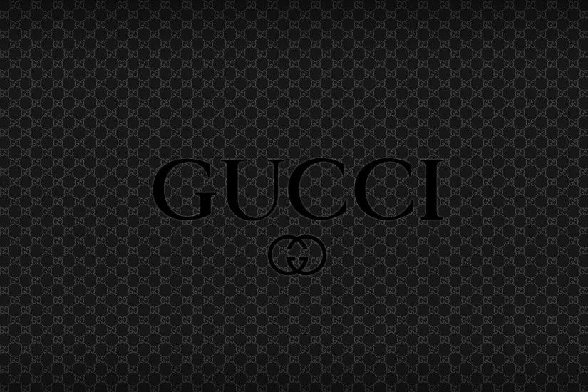 Download Wallpaper 1920x1080 black gucci, logo, brand, quality Full HD  1080p HD Background