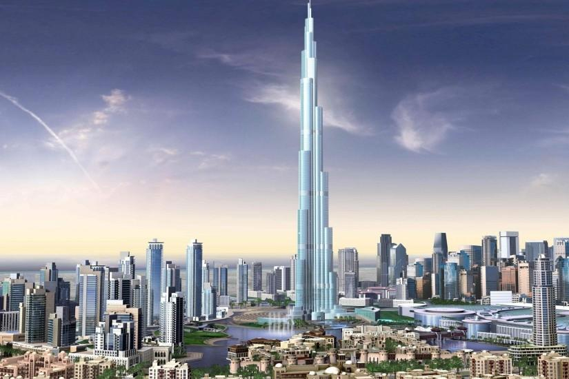 Preview wallpaper dubai, building, sky, urban landscape 1920x1080