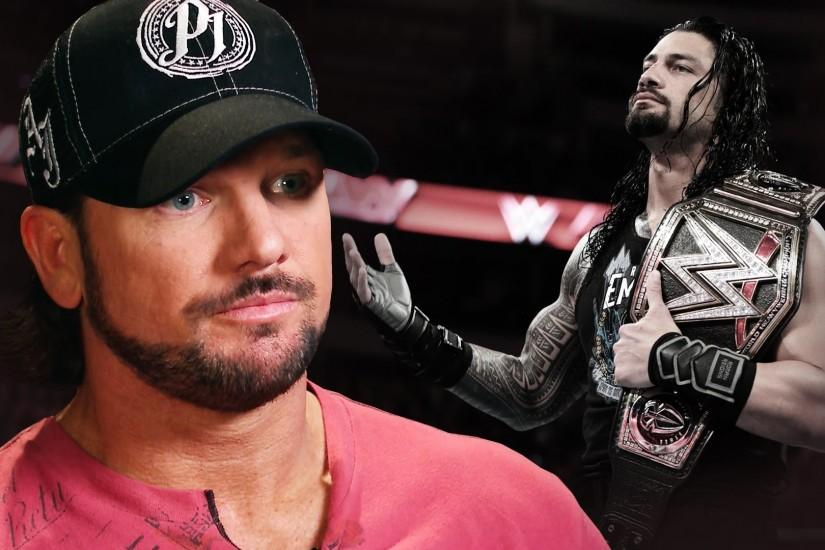 AJ Styles VS Roman Reigns Wallpapers HD Pictures.