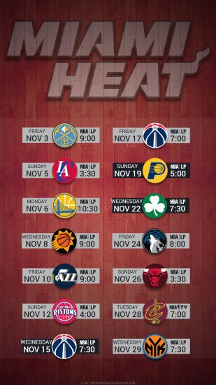 Miami Heat 2017 schedule hardwood nba basketball logo wallpaper free iphone  5, 6, 7