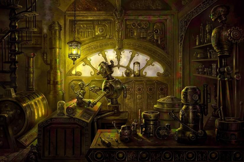 steampunk background 1920x1200 for pc