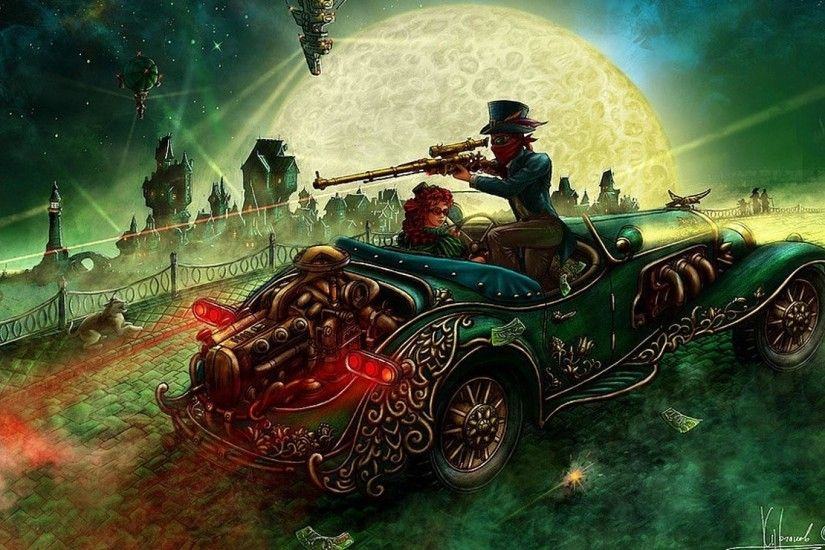 Artistic steampunk wallpaper | (63437)