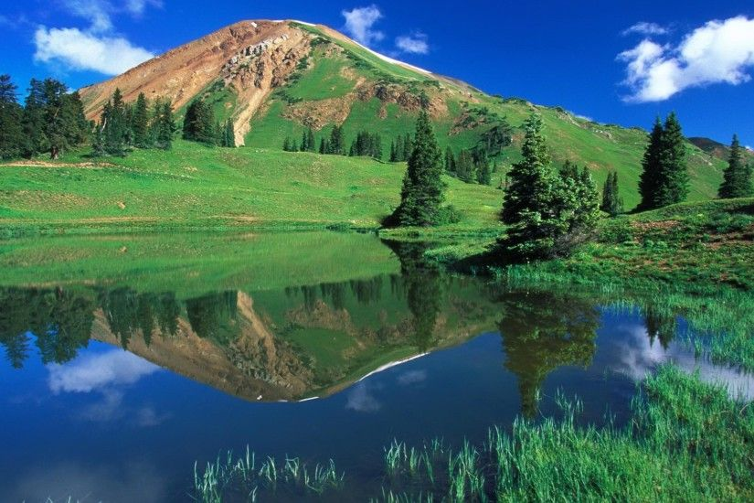 hd beautiful mountain reflection wallpaper 1920x1080