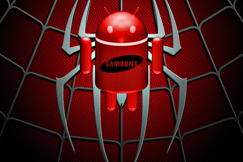 SAMSUNG logo red Android SmartPhone Wallpaper