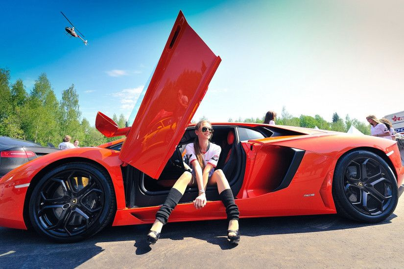 Download Hot Girl with Supercar Wallpaper Free Wallpapers