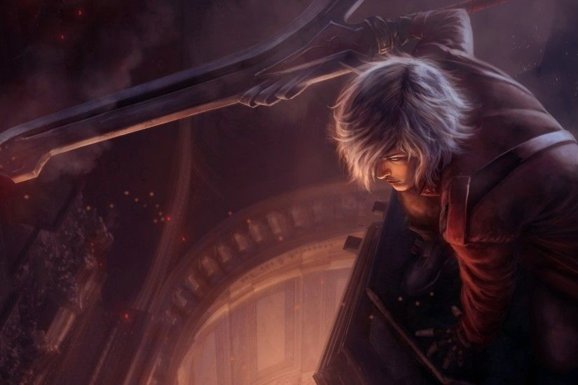 2560x1080 Wallpaper devil may cry, dante, art, character