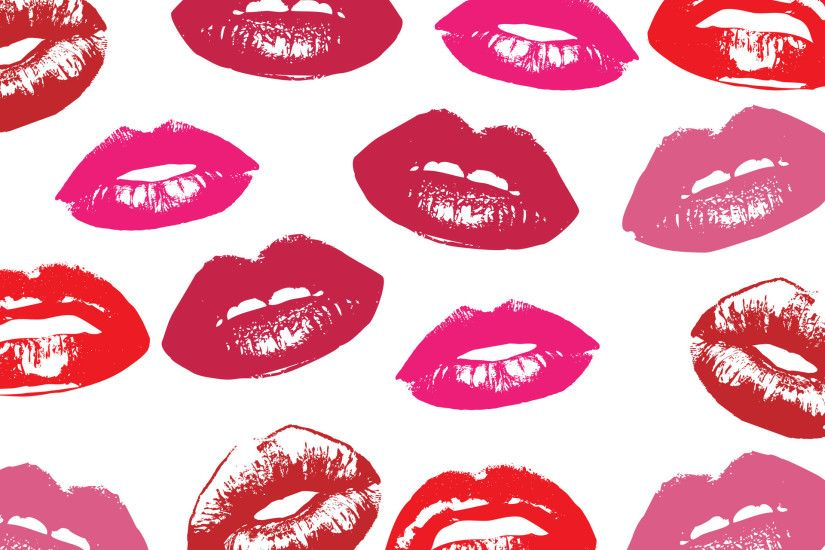 Glossy Lips Wallpaper Background