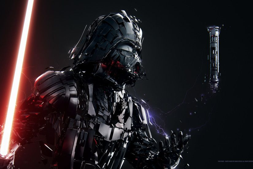 Sci Fi - Star Wars Darth Vader Lightsaber Wallpaper