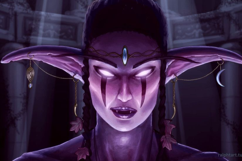 Night Elf Wallpaper by RalphTart Night Elf Wallpaper by RalphTart