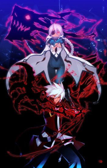 BlazBlue - v-13 and Ragna the Bloodedge