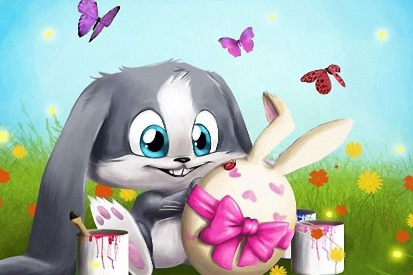 3D easter bunny wallpapers