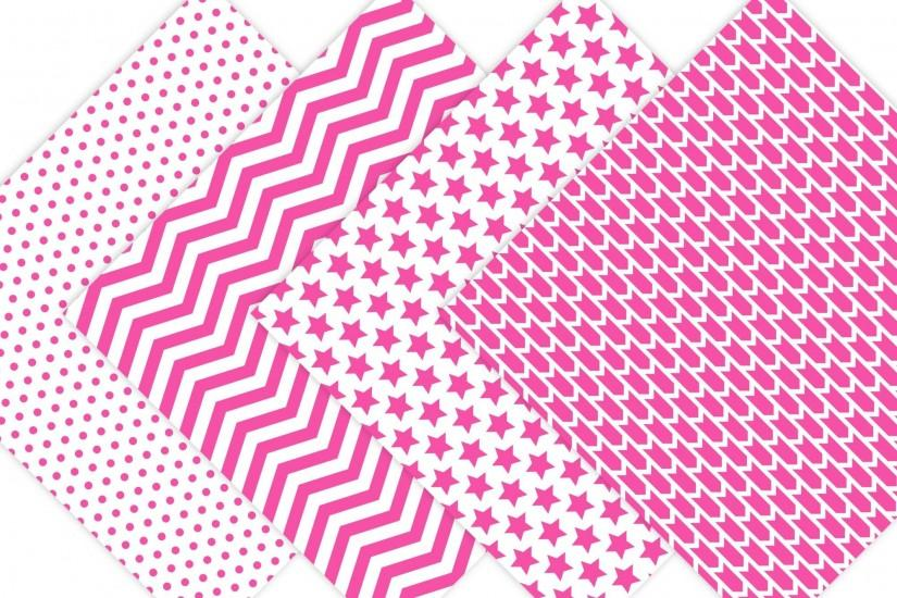Hot Pink Digital Paper - Background Patterns example image 3