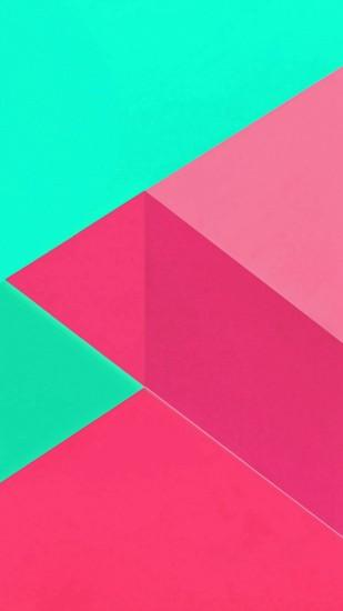 Android Marshmallow New Green Pink Pattern iPhone 7 wallpaper