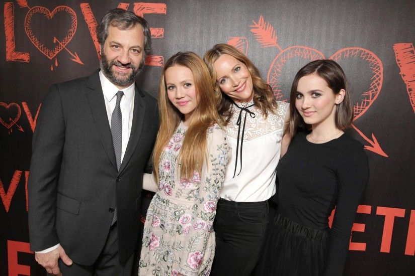 Judd Apatow With Leslie Mann and Daughters at Love Premiere | POPSUGAR  Celebrity