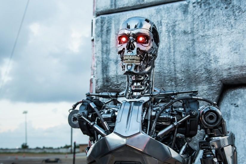 Preview wallpaper genesis, terminator, robot, t-800 3840x2160