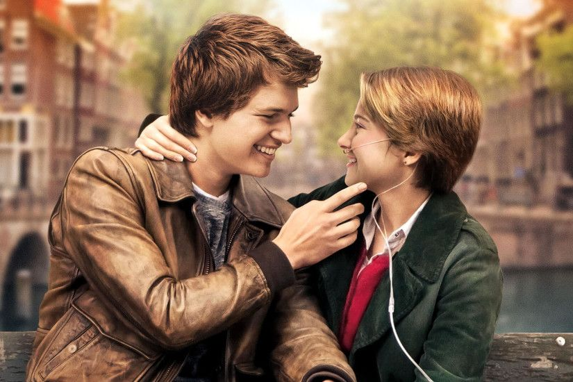 Movie - The Fault in Our Stars Shailene Woodley Ansel Elgort Wallpaper